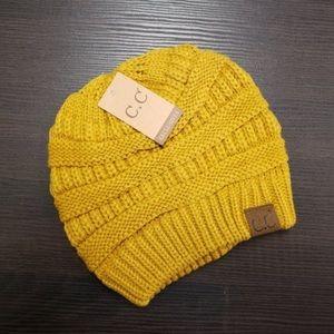 CC Boutique Mustard Colored Beanie